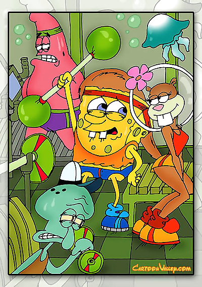 Sponge bob and his friends..