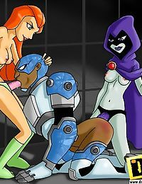 Teen titans and totally spies in a wild xxx party - part 1893