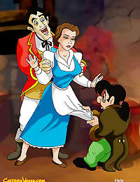Belle is doubled teamed by gaston and lefou - part 1675