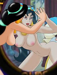 The evil jaffar takes jasmine roughly - part 1444