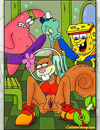 Sponge bob and his friends decide to gangbang sandy - part 1353