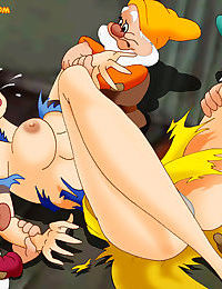 Snow white gets into bdsm with the seven dwarves - part 509