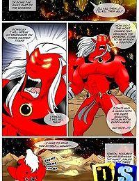 Teen titans fighting the horny alien intruders - part 377